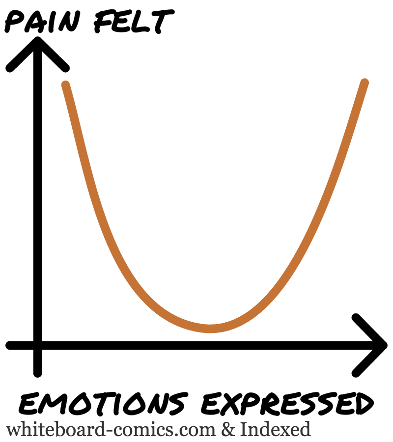 Pain felt = F ( Emotions expressed )